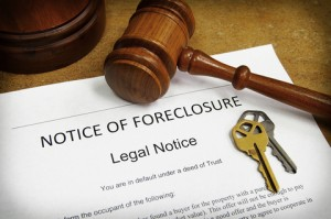 Mortgage foreclosure is the process of barring, closing out or taking away.